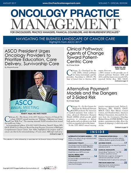 August 2017, Vol 7, No 8: Special Edition – Highlights from ASCO 2017